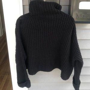 Cozy black knit sweater